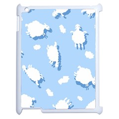 Vector Sheep Clouds Background Apple Ipad 2 Case (white)