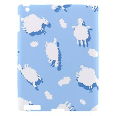 Vector Sheep Clouds Background Apple Ipad 3/4 Hardshell Case