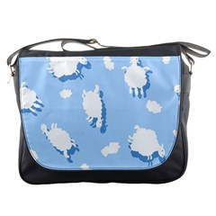 Vector Sheep Clouds Background Messenger Bags