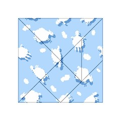 Vector Sheep Clouds Background Acrylic Tangram Puzzle (4  X 4 )