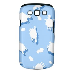 Vector Sheep Clouds Background Samsung Galaxy S Iii Classic Hardshell Case (pc+silicone)