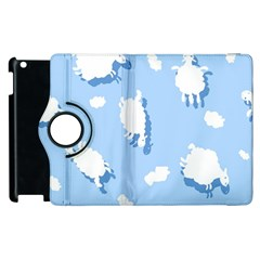 Vector Sheep Clouds Background Apple iPad 2 Flip 360 Case