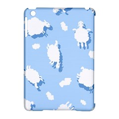 Vector Sheep Clouds Background Apple iPad Mini Hardshell Case (Compatible with Smart Cover)