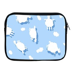 Vector Sheep Clouds Background Apple iPad 2/3/4 Zipper Cases