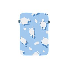 Vector Sheep Clouds Background Apple iPad Mini Protective Soft Cases