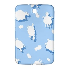 Vector Sheep Clouds Background Samsung Galaxy Note 8.0 N5100 Hardshell Case