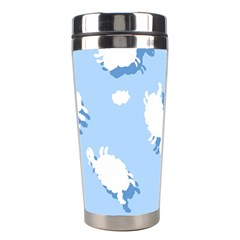 Vector Sheep Clouds Background Stainless Steel Travel Tumblers