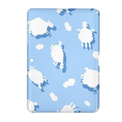 Vector Sheep Clouds Background Samsung Galaxy Tab 2 (10.1 ) P5100 Hardshell Case