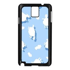 Vector Sheep Clouds Background Samsung Galaxy Note 3 N9005 Case (Black)