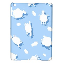 Vector Sheep Clouds Background iPad Air Hardshell Cases