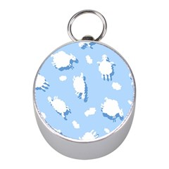 Vector Sheep Clouds Background Mini Silver Compasses