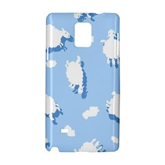 Vector Sheep Clouds Background Samsung Galaxy Note 4 Hardshell Case