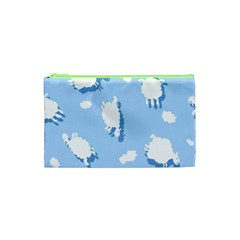 Vector Sheep Clouds Background Cosmetic Bag (xs)