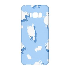 Vector Sheep Clouds Background Samsung Galaxy S8 Hardshell Case