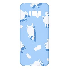 Vector Sheep Clouds Background Samsung Galaxy S8 Plus Hardshell Case