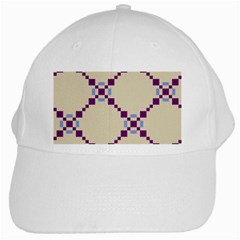 Pattern Background Vector Seamless White Cap