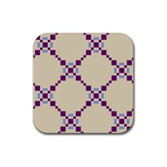 Pattern Background Vector Seamless Rubber Coaster (square)