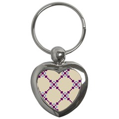 Pattern Background Vector Seamless Key Chains (heart)