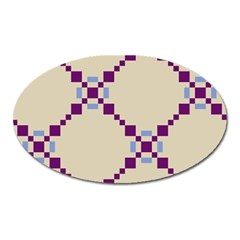 Pattern Background Vector Seamless Oval Magnet