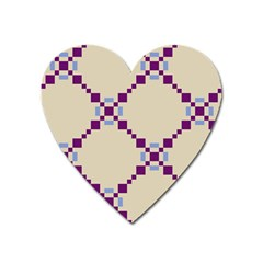 Pattern Background Vector Seamless Heart Magnet