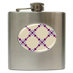 Pattern Background Vector Seamless Hip Flask (6 oz)