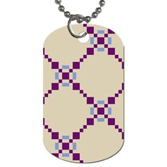 Pattern Background Vector Seamless Dog Tag (Two Sides)