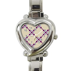 Pattern Background Vector Seamless Heart Italian Charm Watch