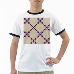 Pattern Background Vector Seamless Ringer T Shirts