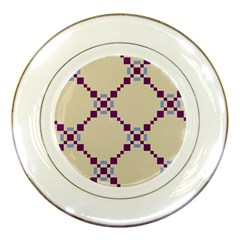 Pattern Background Vector Seamless Porcelain Plates