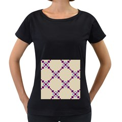 Pattern Background Vector Seamless Women s Loose Fit T Shirt (black)
