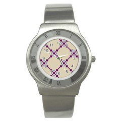 Pattern Background Vector Seamless Stainless Steel Watch