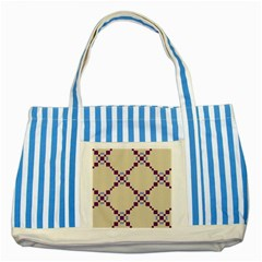 Pattern Background Vector Seamless Striped Blue Tote Bag