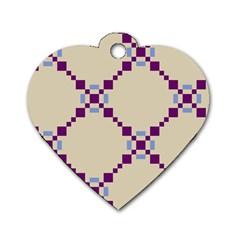Pattern Background Vector Seamless Dog Tag Heart (one Side)