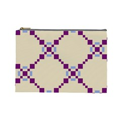 Pattern Background Vector Seamless Cosmetic Bag (Large)