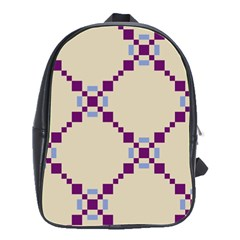 Pattern Background Vector Seamless School Bags(Large)