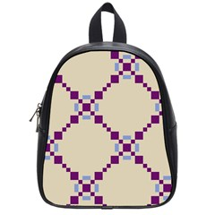Pattern Background Vector Seamless School Bags (small)
