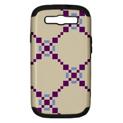 Pattern Background Vector Seamless Samsung Galaxy S III Hardshell Case (PC+Silicone)