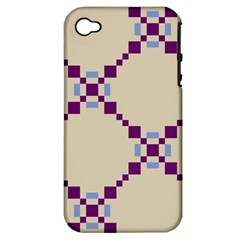 Pattern Background Vector Seamless Apple Iphone 4/4s Hardshell Case (pc+silicone)