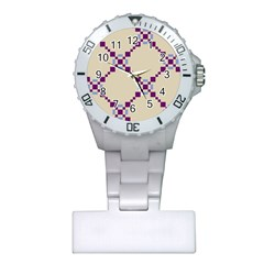 Pattern Background Vector Seamless Plastic Nurses Watch
