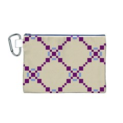 Pattern Background Vector Seamless Canvas Cosmetic Bag (M)