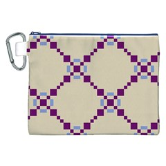 Pattern Background Vector Seamless Canvas Cosmetic Bag (xxl)