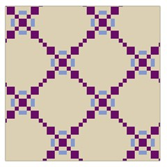 Pattern Background Vector Seamless Large Satin Scarf (square)