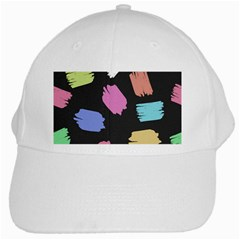 Many Colors Pattern Seamless White Cap