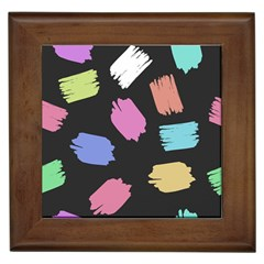 Many Colors Pattern Seamless Framed Tiles