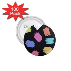 Many Colors Pattern Seamless 1 75  Buttons (100 Pack)