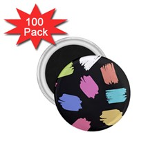 Many Colors Pattern Seamless 1.75  Magnets (100 pack)