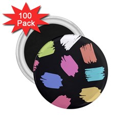 Many Colors Pattern Seamless 2.25  Magnets (100 pack)