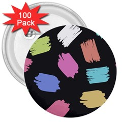 Many Colors Pattern Seamless 3  Buttons (100 Pack)