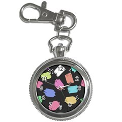 Many Colors Pattern Seamless Key Chain Watches