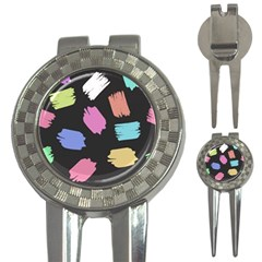 Many Colors Pattern Seamless 3-in-1 Golf Divots